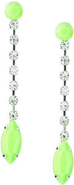 ASOS Collection Asos Neon Bead and Rhinestone Drop Earrings - Lyst