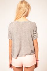 Asos Collection Asos Tshirt in Slouch Loose Knit in Beige (nude) - Lyst