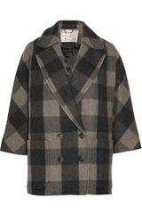Aubin & Wills Brindle Checked Wool-Blend Coat - Lyst