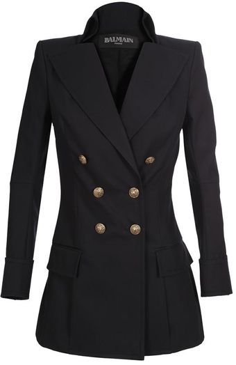 Balmain Cotton Gabardine Military Jacket - Lyst