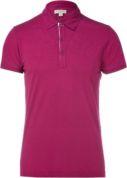 Burberry brit magenta pink shortsleeves polo shirt size for Burberry shirt size chart
