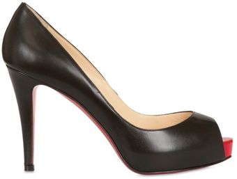 Christian Louboutin 100mm Very Prive Kid Open Toe Pumps - Lyst