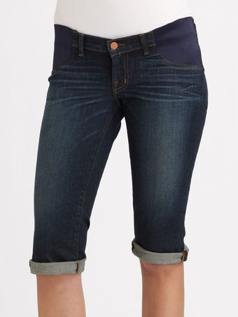 J Brand Maternity Bermuda Denim Shorts - Lyst