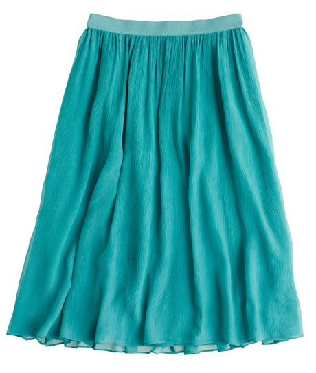 J.crew Crinkle Chiffon Skirt in Blue (warm peacock) - Lyst