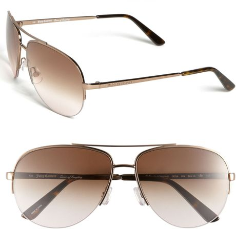 Juicy Couture Aviator Sunglasses in Brown (almond)   Lyst