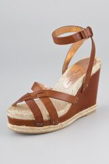 Marc By Marc Jacobs Crisscross Suede Wedge Sandals - Lyst