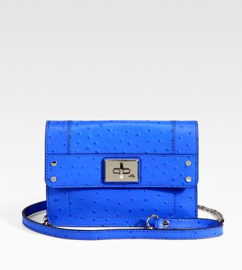 Milly Mini Ostrich-stamped Leather Shoulder Bag - Lyst