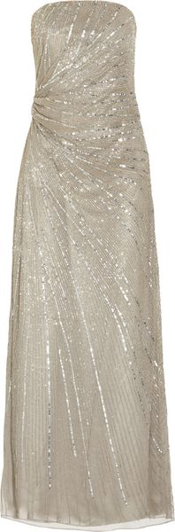 Paul & Joe Floride Strapless Beaded Tulle Gown in Silver - Lyst