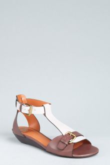 Pour La Victoire  Leather Mali Wedge Sandals - Lyst
