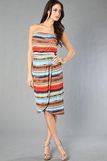 Quiksilver The Desert Sunset Stripe Dress - Lyst