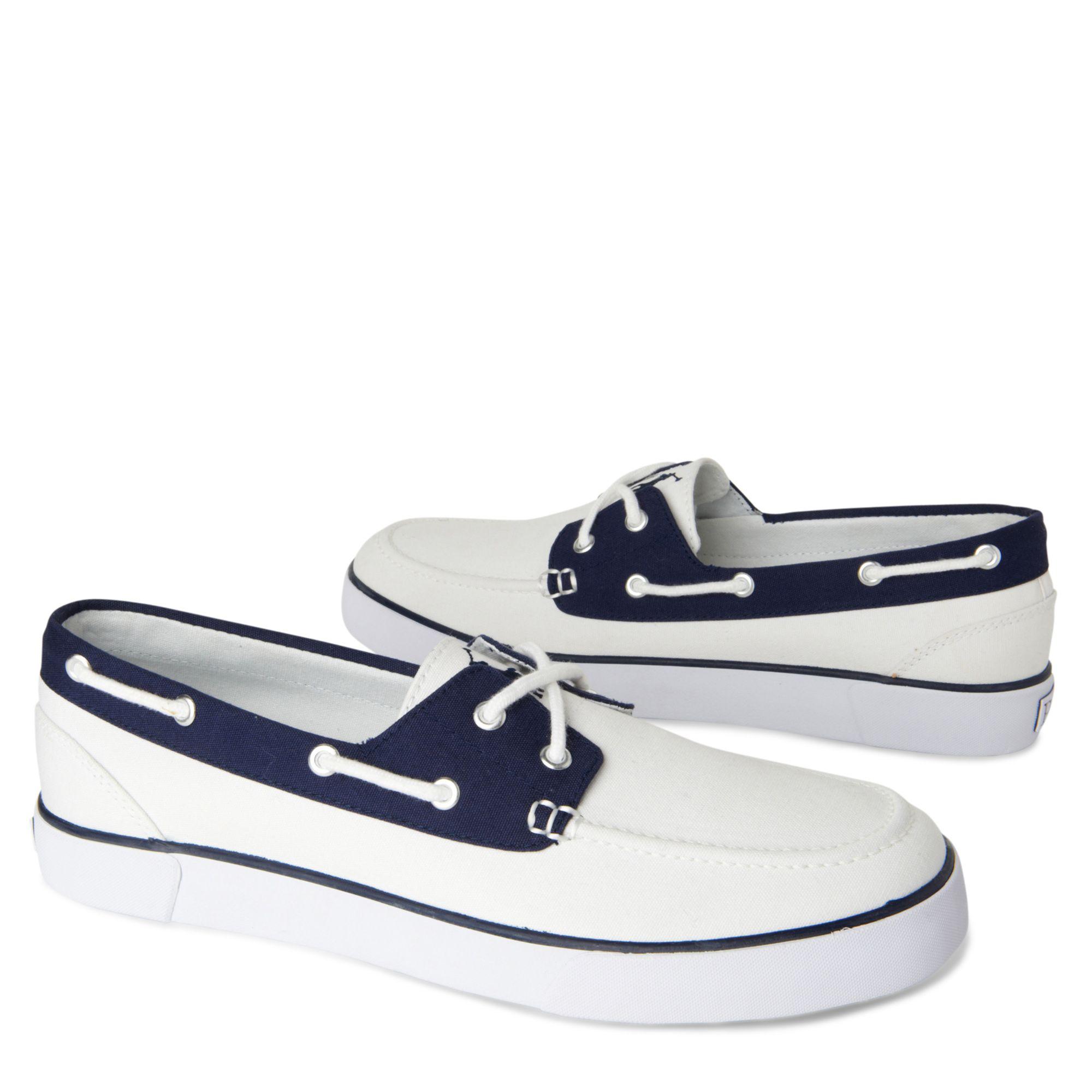 Ralph Lauren Boat Shoes White