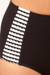 Seafolly Wavey Stripe High Waisted Bikini Bottom in Black (blackwhite) - Lyst