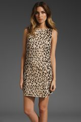 Tibi Cheetah On Cotton Stretch Sateen Dress - Lyst
