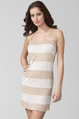 Vera Wang Great Escape Chemise in Beige (champagne) - Lyst