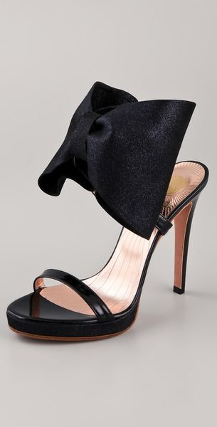 Viktor & Rolf High Heel Bow Sandals in Black - Lyst