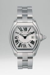 Cartier Roadster Stainless Steel Watch On Bracelet - Lyst