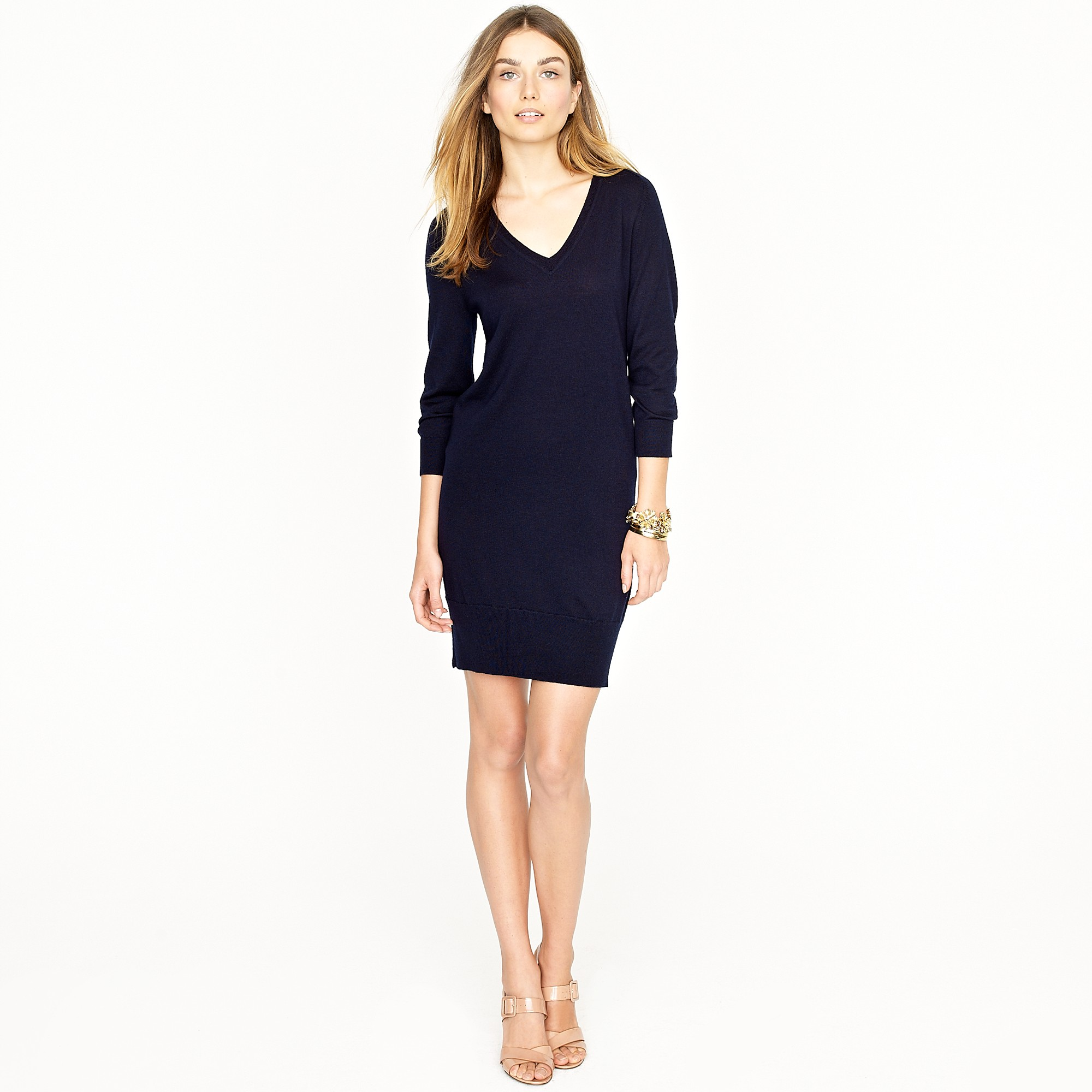 df3c82ed3bf J.Crew Merino Sweater-dress in Blue - Lyst
