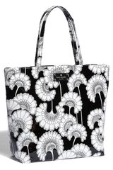 Kate Spade Daycation Coated Canvas Bon Shopper in Black (black/cream japanese floral) - Lyst