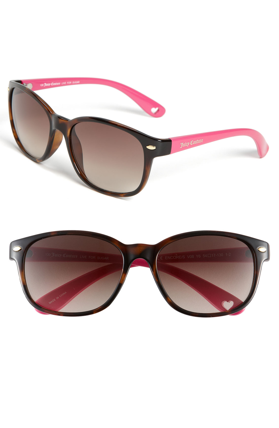 Juicy Couture 'Encore' Sunglasses in Pink (tortoise/ pink ...