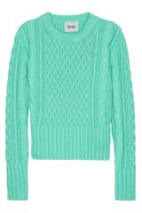 Acne Lia Cable Knit Sweater in Blue - Lyst