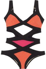 Agent Provocateur Mazzy Cutout Swimsuit in Orange - Lyst