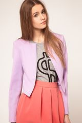 ASOS Collection Asos Ponti Blazer with Notch Lapel - Lyst