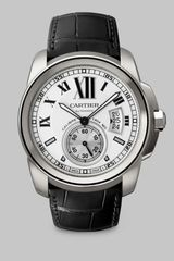 Cartier Calibre De Stainless Steel Watch On Alligator Strap - Lyst