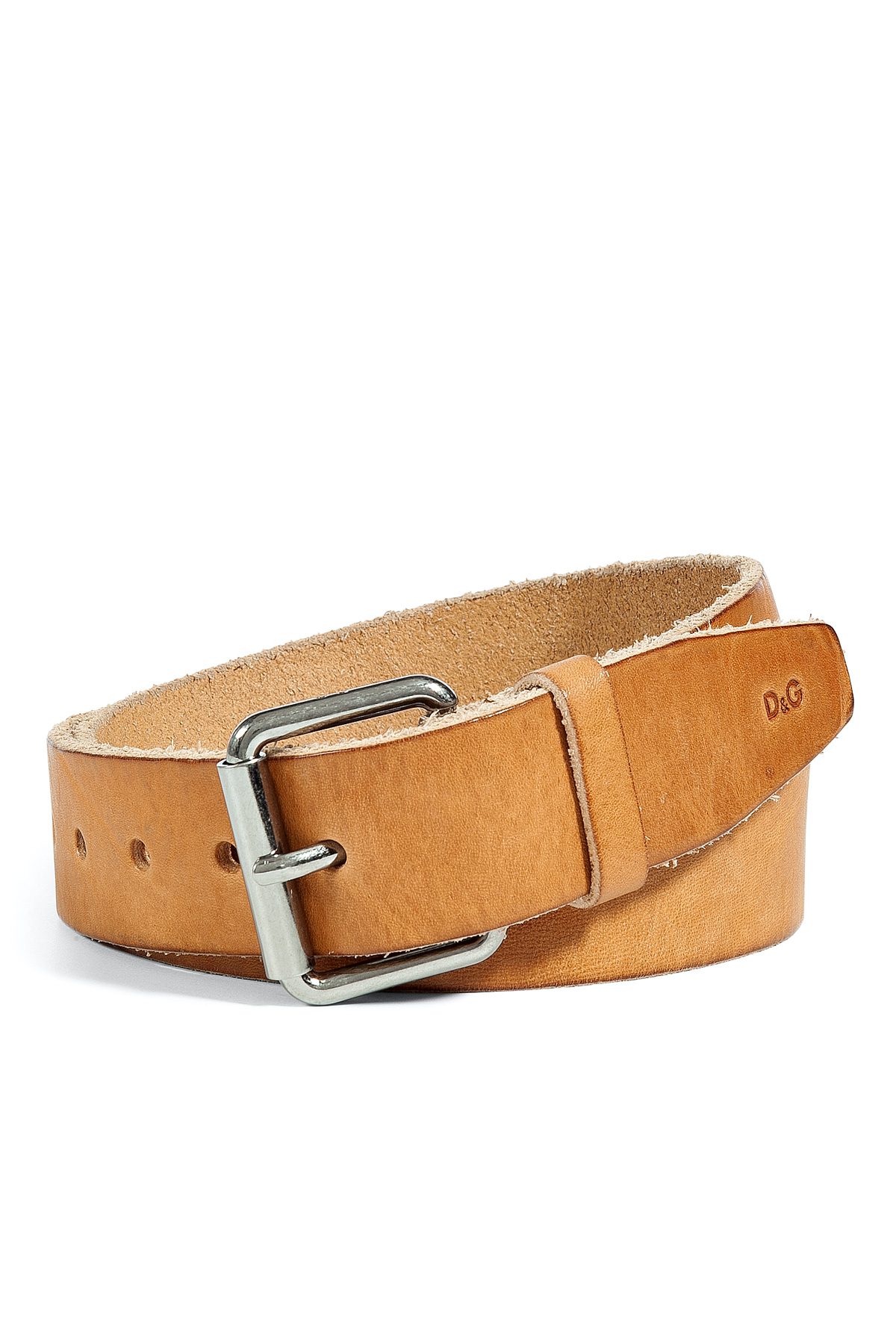 d g leather belt in beige for lyst