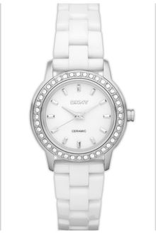 DKNY Round Ceramic Bracelet Watch - Lyst