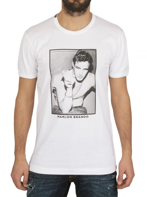 Dolce gabbana marlon brando printed jersey t shirt in for Dolce and gabbana printed t shirts