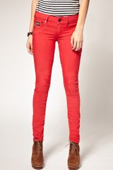 G-star Raw Arc Coloured Skinny Jeans in Red - Lyst