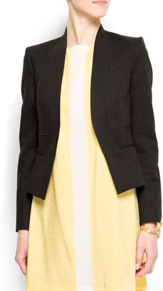 Mango Relaxed-fit Suit Jacket in Black (02) - Lyst
