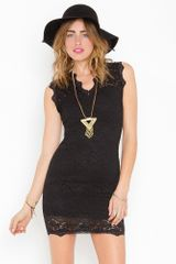 Nasty Gal Lara Lace Dress - Black - Lyst