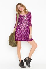 Nasty Gal Iris Lace Dress in Purple (violet) - Lyst