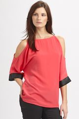 Sachin & Babi Irylianna Open Shoulder Top in Red (watermelon) - Lyst