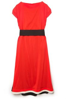 Vionnet Belted Color Block Dress - Lyst