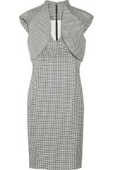 Alexander McQueen Houndstooth Silk And Wool-Blend Dress - Lyst
