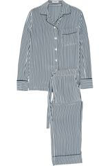 Equipment Classic Striped Silk Pajamas - Lyst