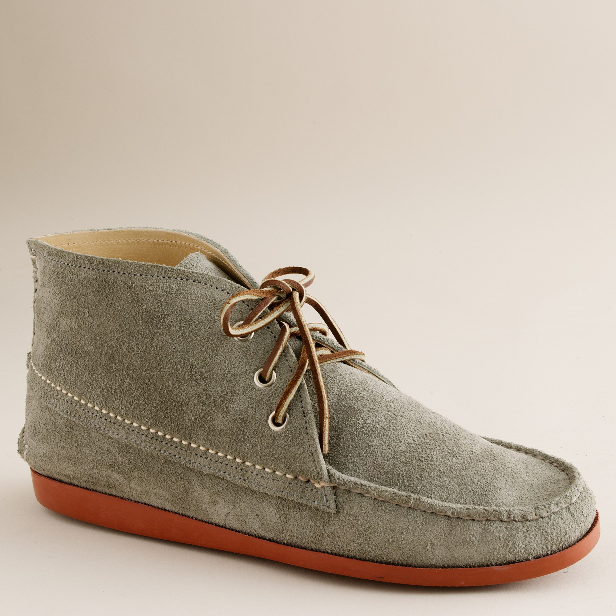 J.crew Mens Quoddy® Suede Chukka Boots in Gray for Men   Lyst