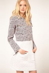 See By Chloé See By Chloe Printed Denim Short Jacket - Lyst