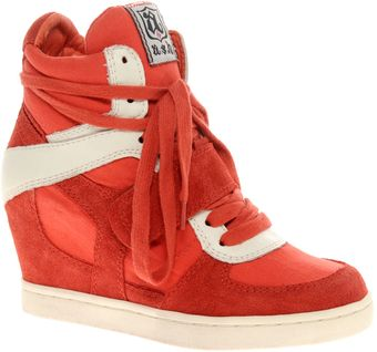 Ash Cool Suede Strapped Wedge Trainers - Lyst