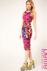 ASOS Collection Asos Petite Exclusive Midi Dress in Tropical Print - Lyst