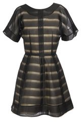 Balenciaga Striped-effect Silk Organza Dress