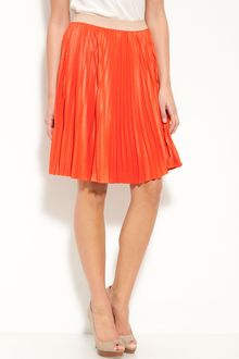 BCBGMAXAZRIA Pleated Skirt - Lyst