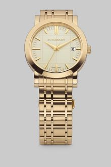 Burberry Engraved Gold Watch - Lyst