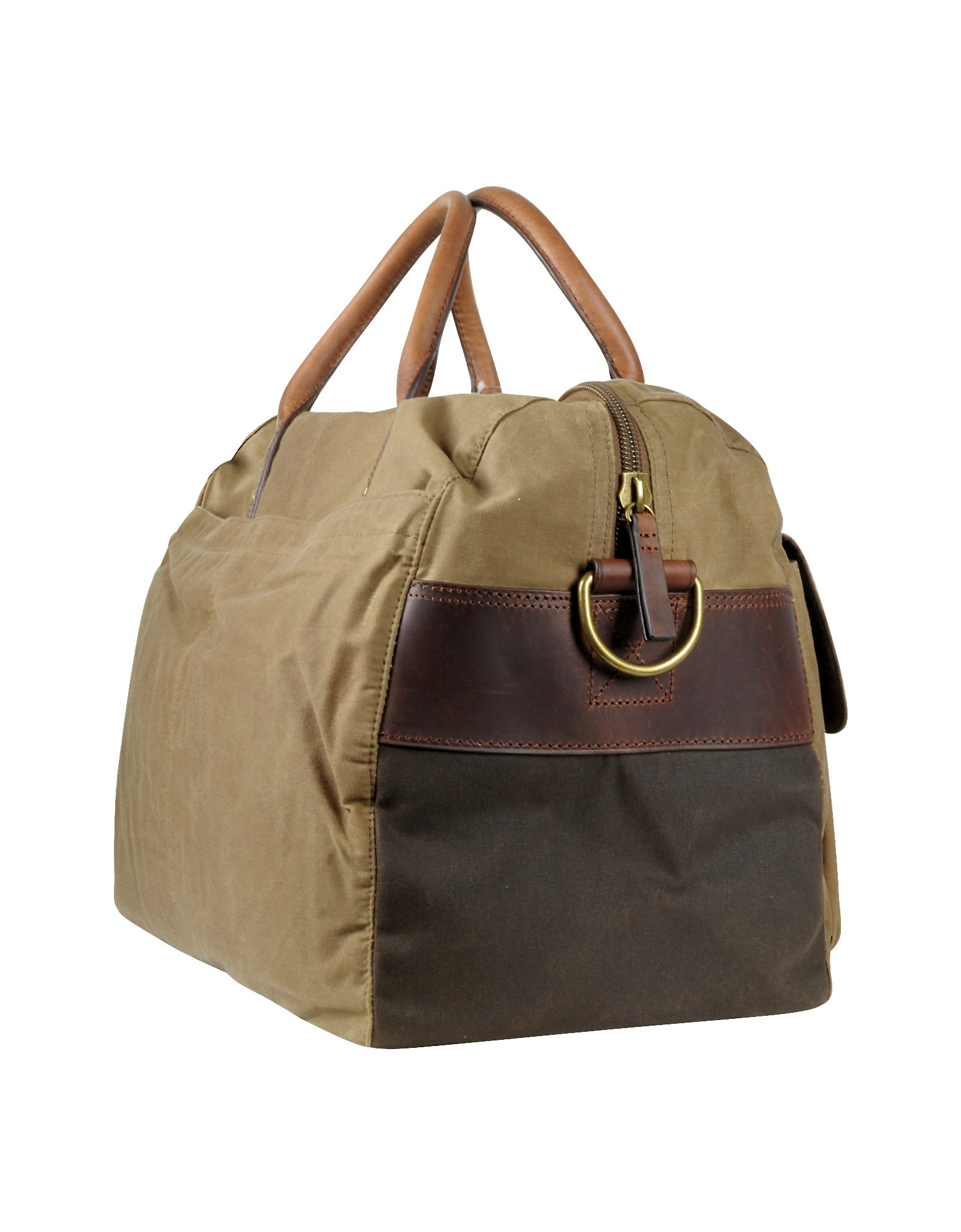 Fossil Wagner Brown Canvas Duffle Bag In Brown For Men