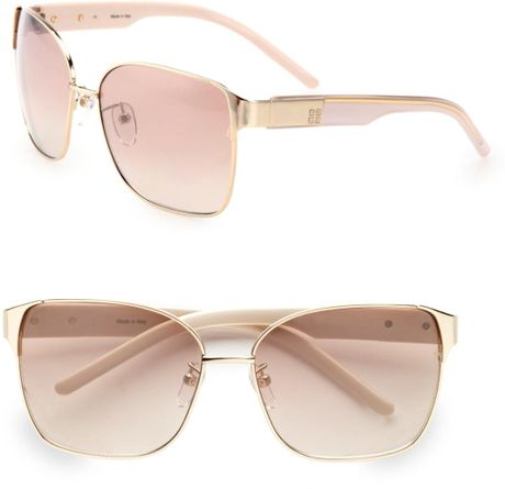 Givenchy Modified Square Sunglasses in Pink (black-gold) - Lyst