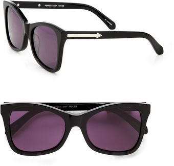 Karen Walker Modified Cateye Sunglasses/black - Lyst