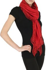 Marucelli Jersey and Lace Scarf - Lyst
