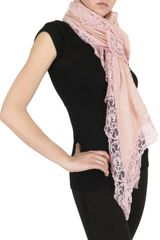Marucelli Jersey and Lace Scarf in Pink (rose) - Lyst